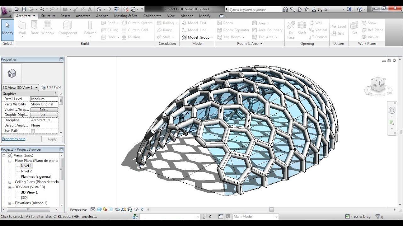 como hacer una superficie con patrà n masa en revit youtube