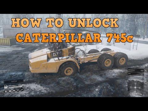 Snowrunner - How To Unlock The Caterpillar 745C (Cat Dumper)| Walkthrough