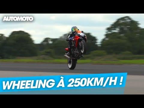 Moto : Il tient à plus de 250 km/h en wheeling  !