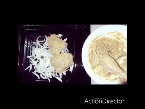 recette:-poulet-à-la-moutarde-accompagnant-:pommes-de-terre-et-carottes-sautées-à-l'ail-+🍎+🥒-🤗