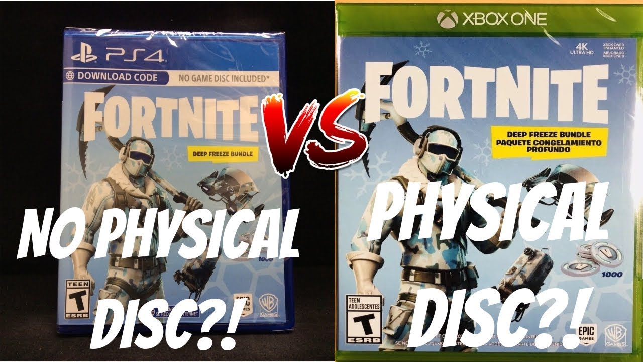 Comparing Boxed Copies Of Fortnite Deep Freeze Ps4 Vs Xbox One Fortnite Physical Disc