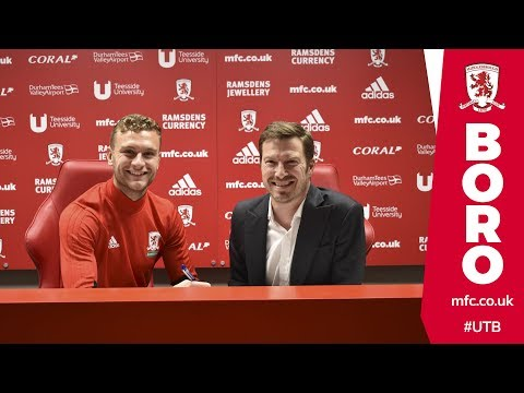 Ben Gibson signs a new contract at Boro