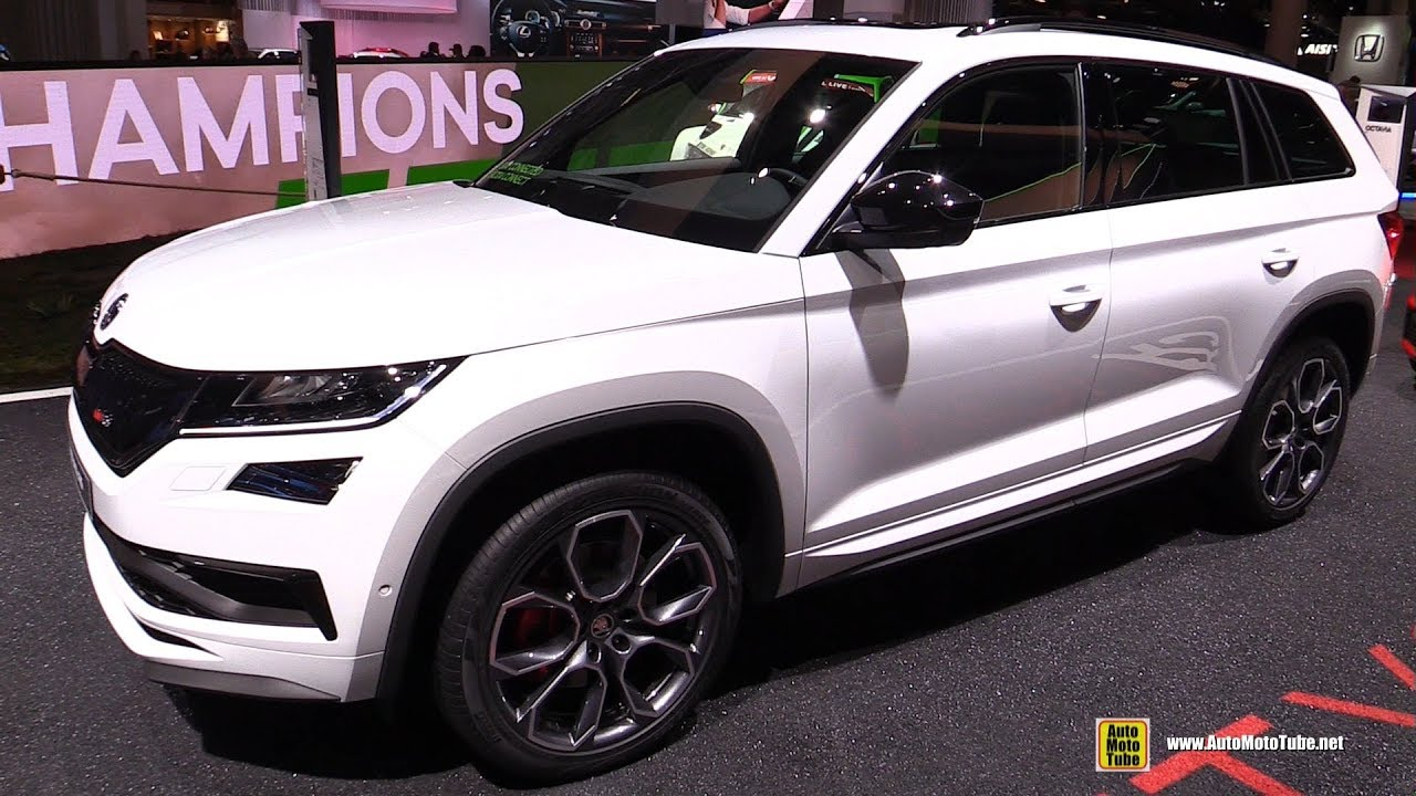 2019 skoda kodiaq rs exterior and interior walkaround debut at 2018 paris motor show youtube. Black Bedroom Furniture Sets. Home Design Ideas