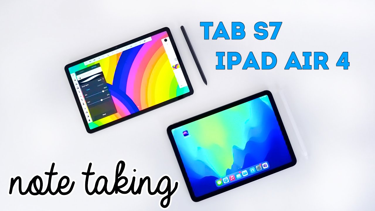 iPad Air 4 (2020) vs Tab S7 - Note taking & handwriting full comparison (REVIEW)