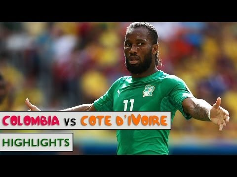 Colombia vs Cote d'Ivoire 2-1 : GOALS !! Full Match highlights - FIFA World Cup 2014