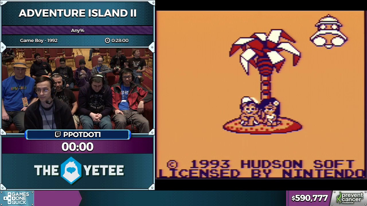 Adventure Island 2 (GB) by ppotdot1 in 21:32 - AGDQ 2017