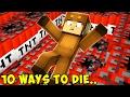 10 CRAZY WAYS TO DIE IN MINECRAFT!
