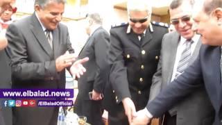 «تورتة» من نادى المقاصة لأمن الفيوم بمناسبة عيد الشرطة .. صور وفيديو