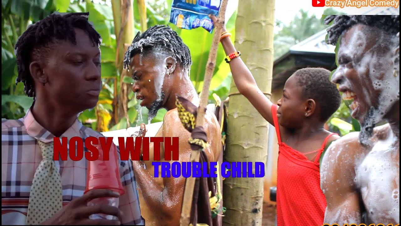 Download NOSY WITH TROUBLE CHILD    REAL HOUSE OF COMEDY \\ MR MACARONI Ft CRAZY ANGEL COMEDY.