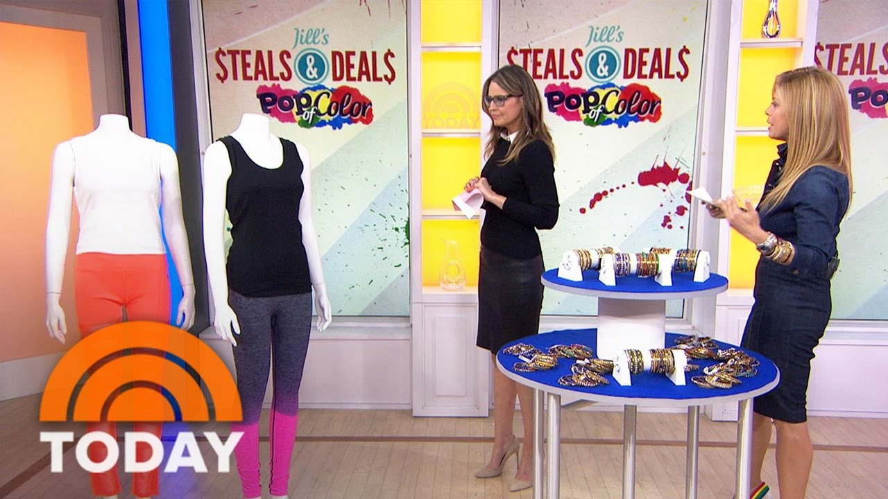 Jill S Steals And Deals Colorful Leggings Bracelets Tote Bags Today