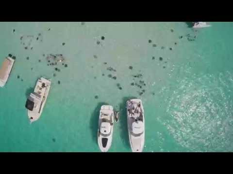 Drone Footage over Stingray City (Grand Cayman) 5/8/15
