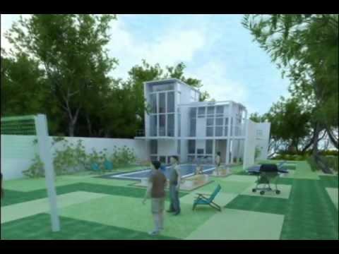 Casa moderna minimalista render youtube for Render casa minimalista