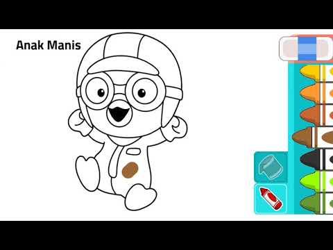 Belajar Mewarnai Tokoh Kartun Pororo Youtube