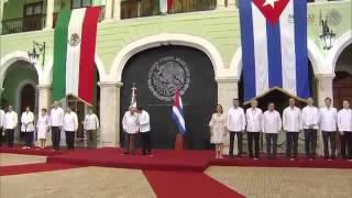 Raul Castro en Mérida | Ceremonia Oficial de Bienvenida | 6 de Noviembre del 2015