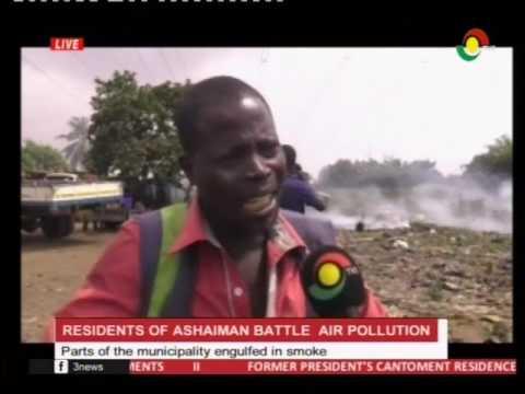 Parts of Ashaiman municipality battling with smoke from refuse burning - 12/1/2017