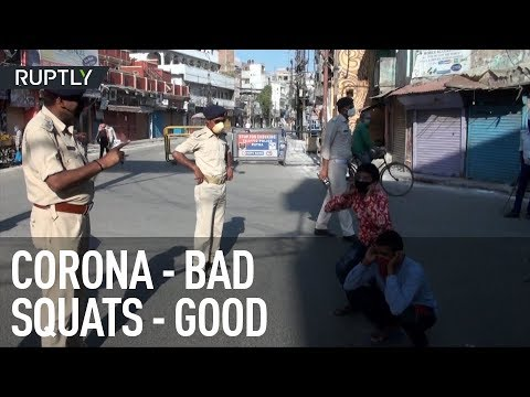 Squats and sticks | Indian police punish coronavirus lockdown violators