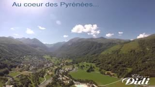 Vue aérienne de la Vallée du Louron