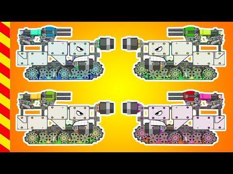 Ремонтируем танки в мастерской.  Стальные Машины готовы к сражению. Мультфильм про войну танков