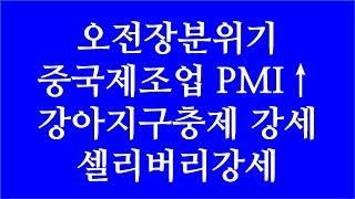 [주식투자]오전장 분위기(오전장분위기(중국제조업 PMI…