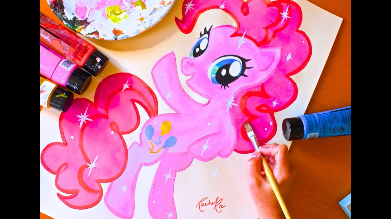 Painting Pinkie Pie My Little Pony Easy Budget By Rachel Rie