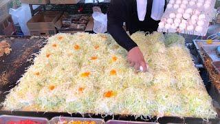 japanese street food - okonomiyaki