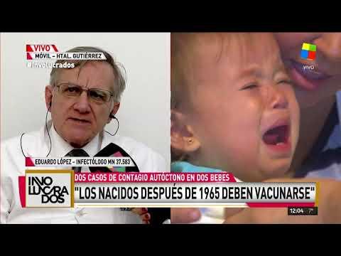Alerta epidemiológico por dos casos autóctonos de sarampión en Buenos Aires