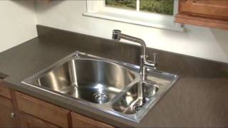 colony 25x22 inch stainless steel kitchen sink kit