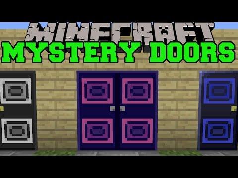 Minecraft: MYSTERY DOOR MOD (TRAVEL TO UNKNOWN LANDS!) Mod Showcase