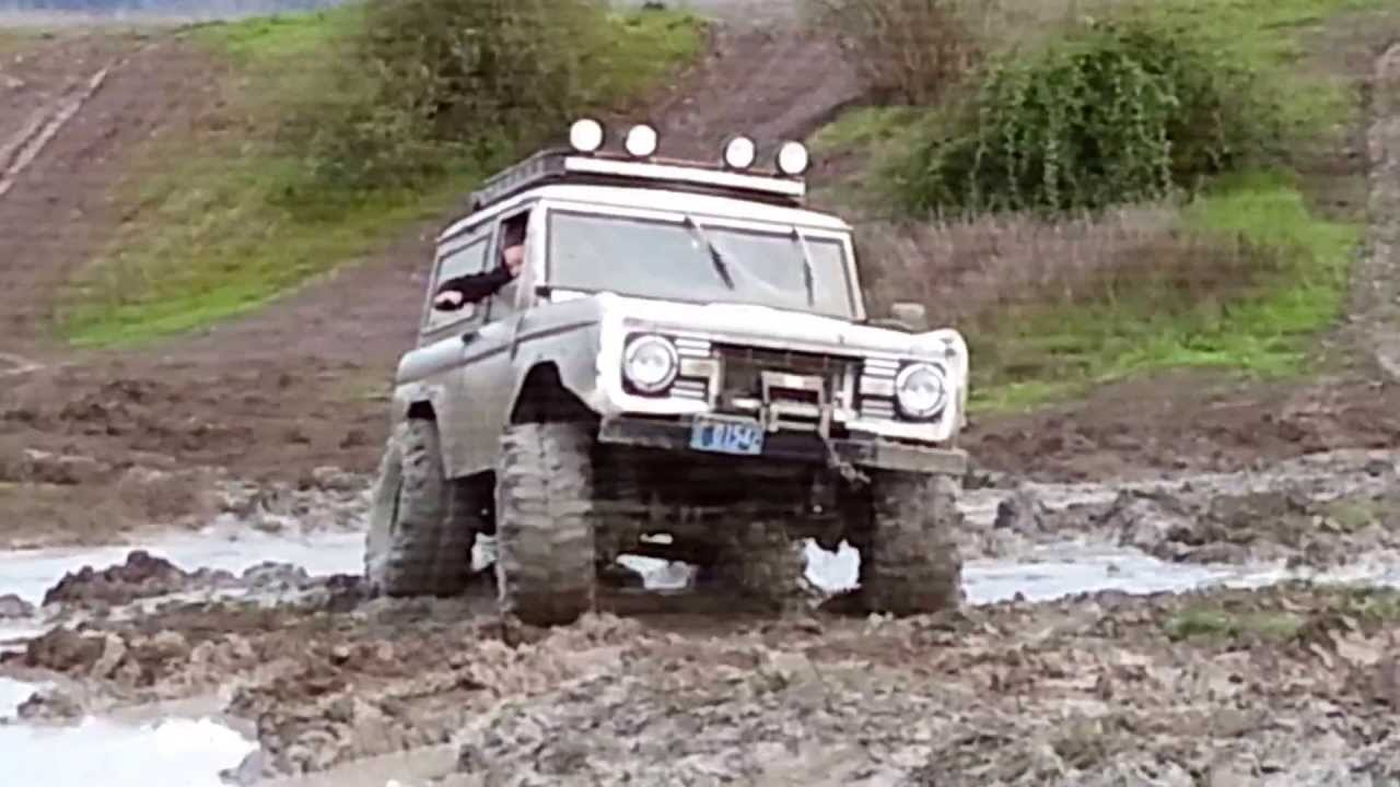 Snow And Mud Tires >> Early Bronco lots of mods playing off road - YouTube