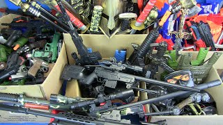 Box of Toys Gun  Compilation Airsoft Guns ,Military Gun Toys \u0026 Equipment Military Rifles Toys