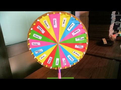 How to make wheel of fortune with fidget spinner