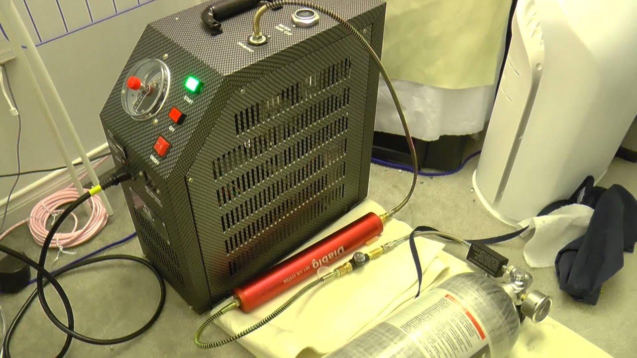 Omega Super Charger 4500psi Compressor And Omega 75cf C