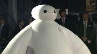Big Hero 6 Baymax live character debut at Japan red carpet event