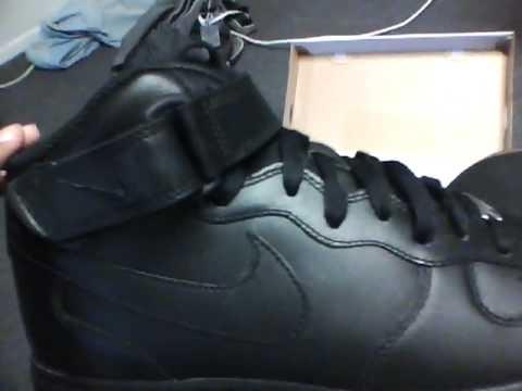 Nike Air Force 1 Haut Noir Faux