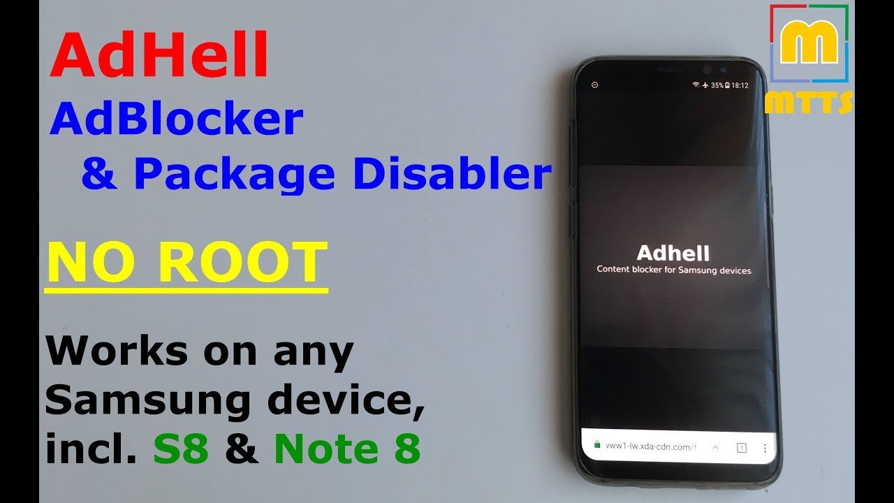 NO ROOT AdBlocker & Package Disabler - any Samsung device incl  Galaxy S8 &  Note 8 - AdHell