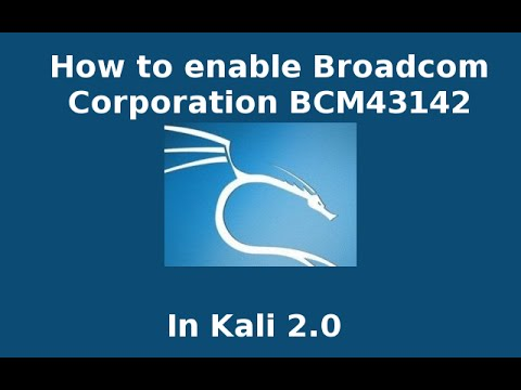 how to enable  Network controller: Broadcom Corporation BCM43142 802.11b/g/n (rev 01)