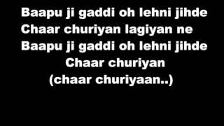 Chaar Churiyaan   Badshah n Inder Nagra Lyrics