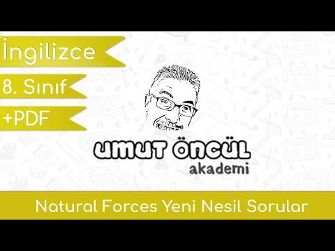 İngilizce   8.Sınıf   10.Ünite   Natural Forces   Yeni Nesil Sorular   +PDF