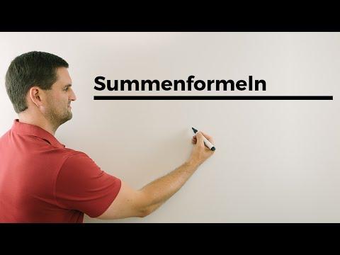 Summenformeln, Mathehilfe online | Mathe by Daniel Jung