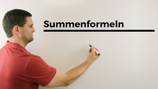 Summenformeln, Mathehilfe online | Mathe by Daniel Jung