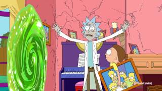 The Simpsons + Rick and Morty