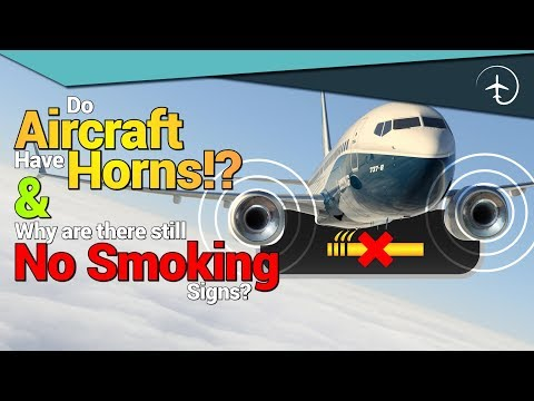 Aircraft Horns and No smoking signs