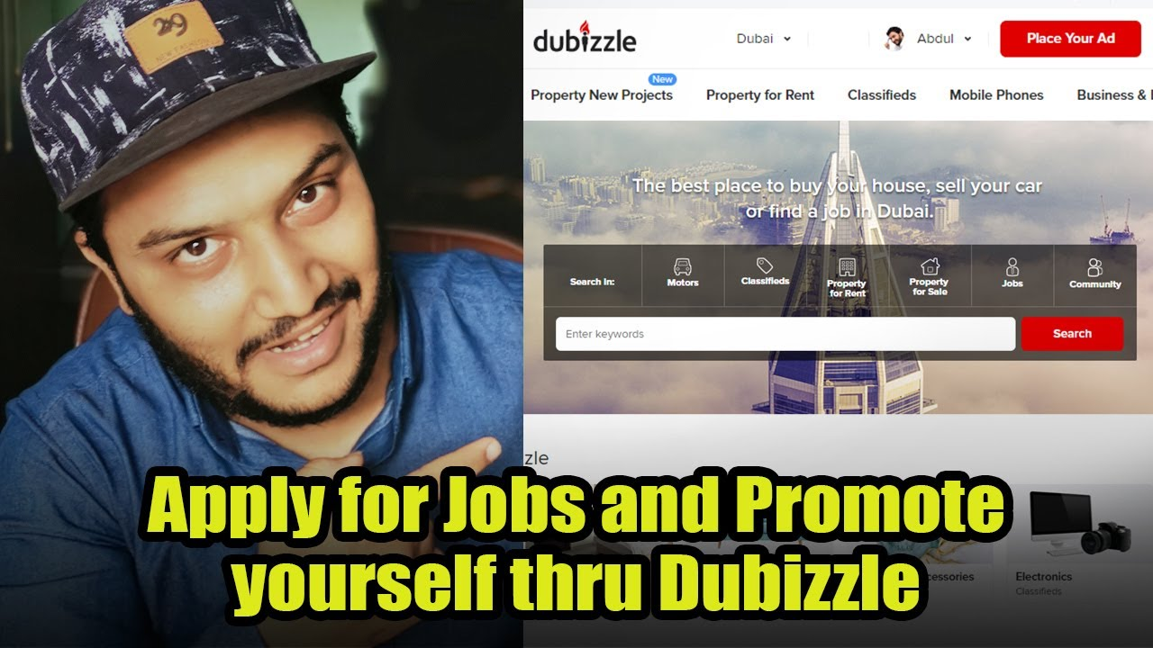 How to apply for jobs and promote yourself using dubizzle jobs portal in  Urdu Hindi