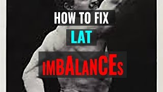 How to Fix Lat Imbalances (THE MOST EFFECTIVE WAY!)