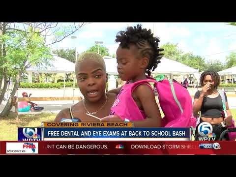 Free dental and eye exams at back-to-school bash in Riviera Beach