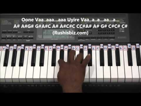 Munbe Vaa - Piano Tutorial (Gamakas) | DOWNLOAD NOTES FROM DESCRIPTION