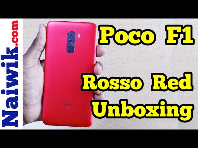 Poco F1 [ Rosso Red ] | Unboxing