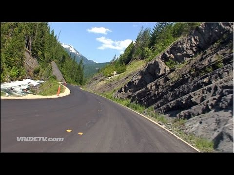 Motorcycle ride: Twisty roads. Mountains. British Columbia Canada