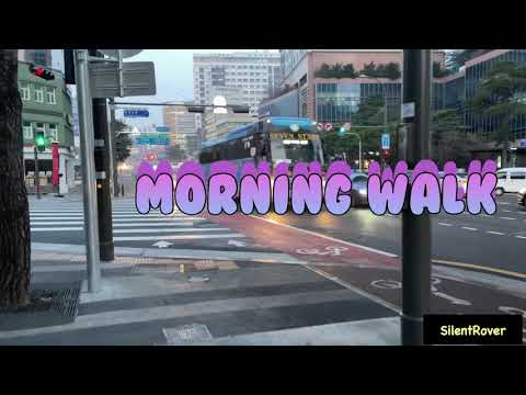 [4K] Early morning walk in the streets of Seoul, from Dongguk University Station to Myeong-dong.