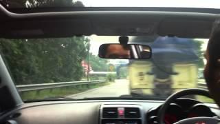 test drive honda airwaves on highway